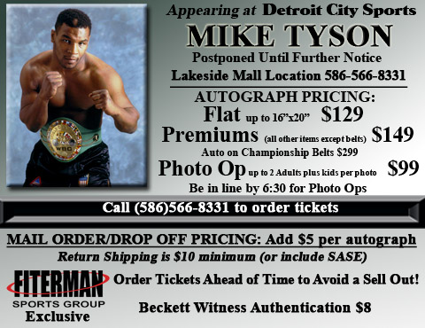 upcoming signings mike tyson