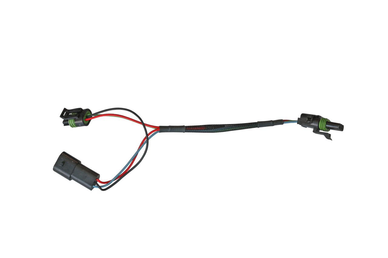 medium resolution of this map sensor adapter will plug in to the main wiring harness into the flat 3 pin deutsch connector with the red black light blue and dark blue wires