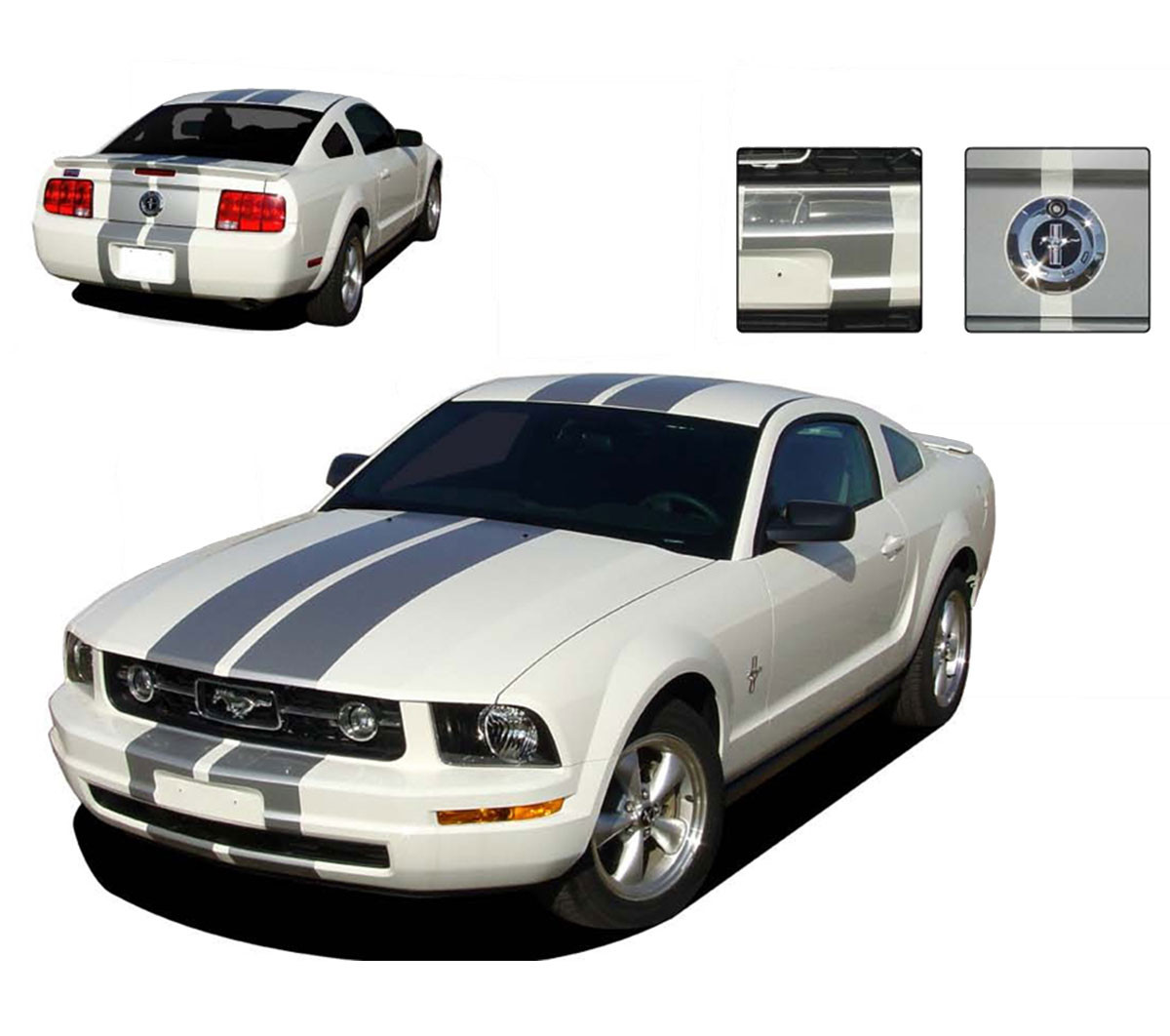 If you&aposre lucky enough to be in a position to buy one of these automotive works of art, then there&aposs no reason not to (we. Fastback 2 Boss Hood Side Stripes 3m Vinyl Graphic Decal 2005 2009 Ford Mustang Parts Accessories Automotive