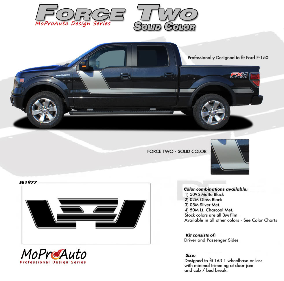 ford f 150 hockey stick appearance package style side vinyl graphics  [ 982 x 973 Pixel ]
