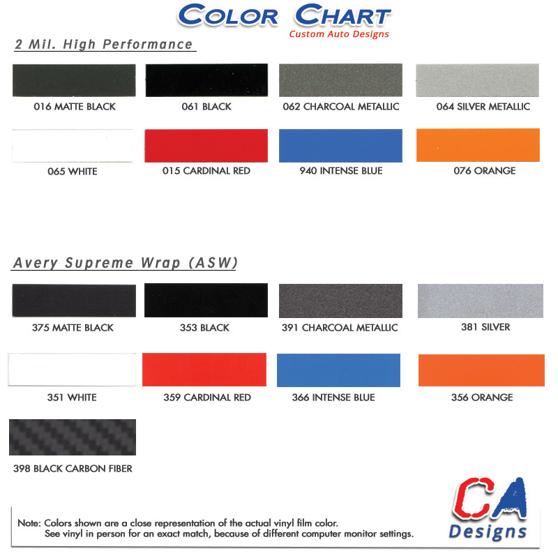 High performance or avery supreme wrap vinyl color chart also jeep wrangler logo hood graphic stripe package rh moproauto