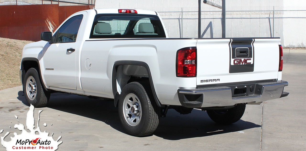 medium resolution of  sierra midway 2014 2015 2016 2017 2018 center hood tailgate gmc sierra vinyl graphic