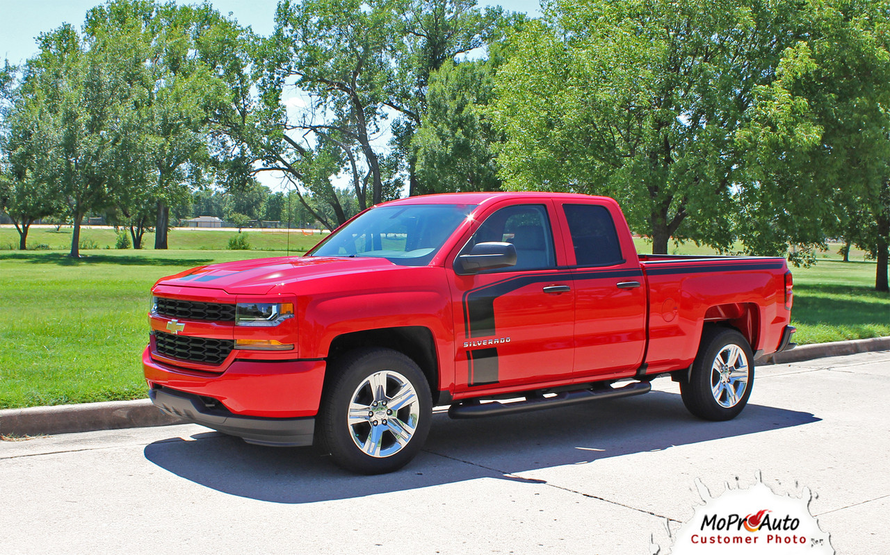 flow 2016 2017 2018 chevy silverado special edition rally style hood and side  [ 1280 x 799 Pixel ]