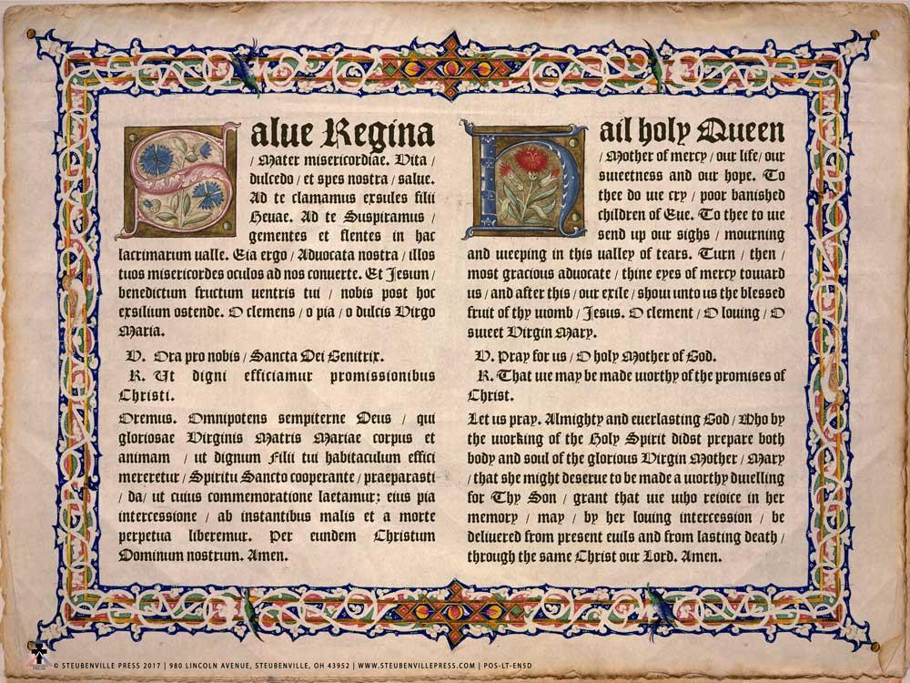 latin english hail holy