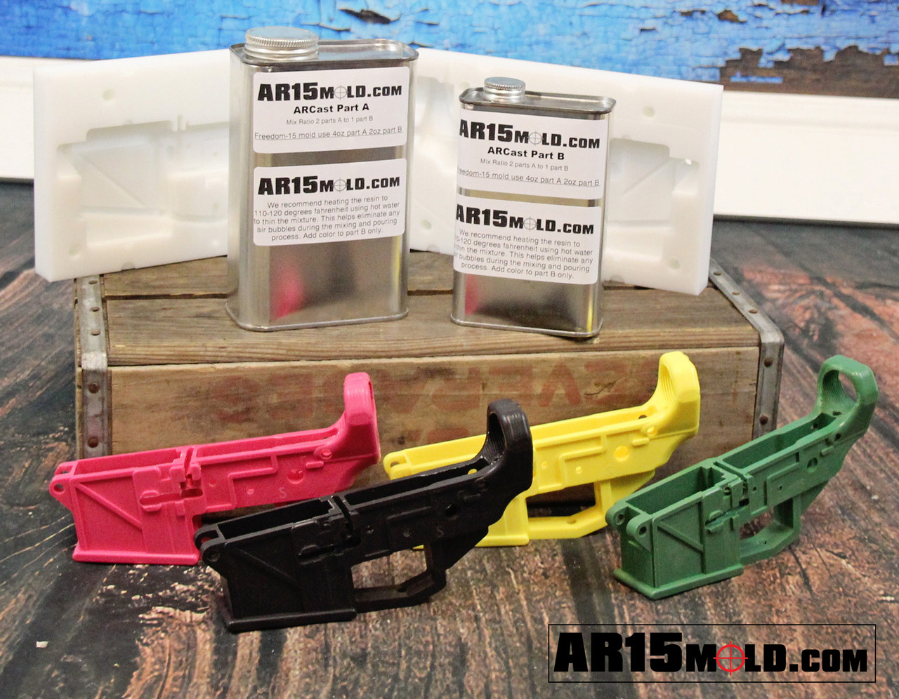 freedom 15 ar15 100 percent lower receiver mold kit no machining required  [ 1280 x 996 Pixel ]