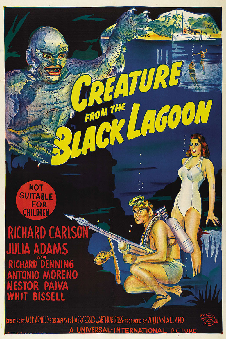 creature from the black lagoon 1954 australian movie poster