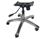 the revolving chair base covers costs office parts replacement stool components chrome kit w casters gas lift tilt mechanism
