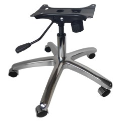 Office Chair Steel Base With Wheels Ace Hardware Folding Adirondack Chairs Chrome 28 Kit W Casters Gas Lift Tilt Mechanism Metal