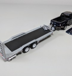 greenlight 1 64 hitch tow 2018 ford f350 dually king ranch magma red w hd flatbed trailer nib xmas [ 1280 x 960 Pixel ]