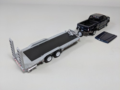 small resolution of greenlight 1 64 hitch tow 2018 ford f350 dually king ranch magma red w hd flatbed trailer nib xmas