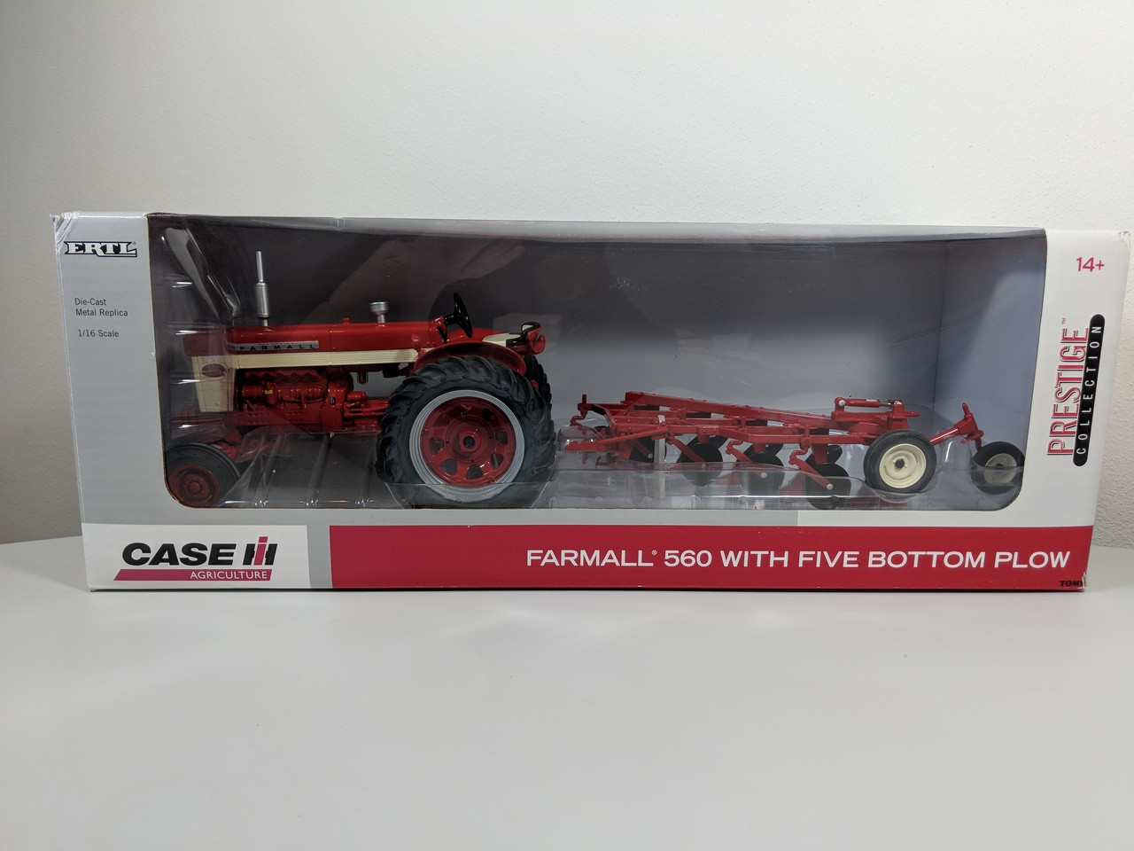 hight resolution of 1 16 farmall 560 diesel tractor with 5 bottom plow prestige edition set also 806 farmall tractor wiring harness in addition 560 farmall
