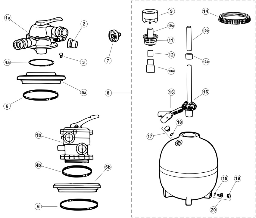 Jacuzzi Sand Filter, Jacuzzi ST27, ST33