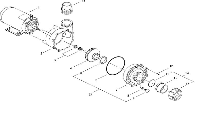 4HP Spa Pump 56 Frame 230Volt 2 Speed QCA 05825013-5340-4