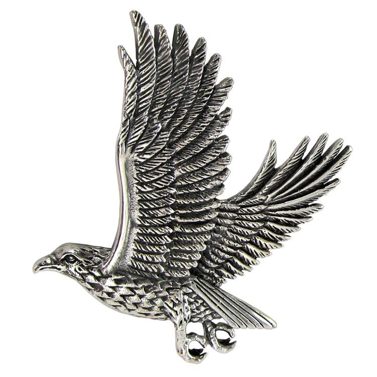 sterling silver flying hawk