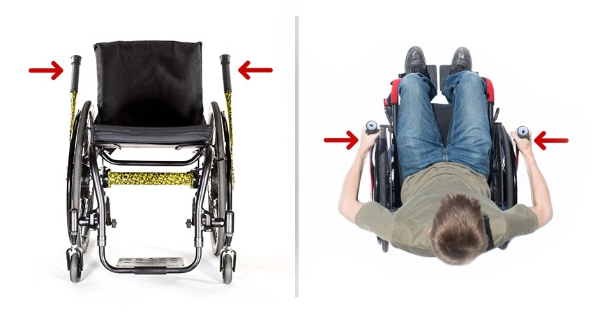 wheelchair grips folding chair measurements lever driving and braking system stop safer