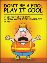 Safety Poster: Don't Be A Fool - Play It Cool