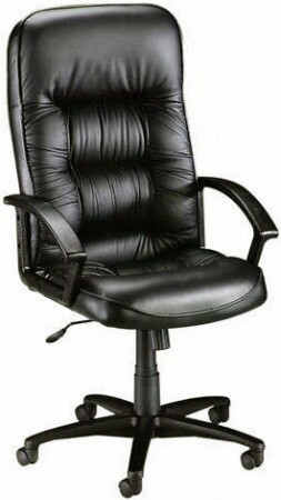 high back tufted chair dining seat covers target lorell leather executive 60116