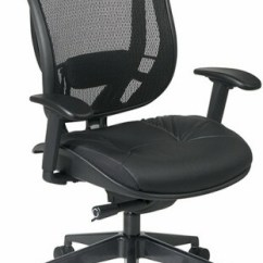 Mesh Back Chairs For Office Dining Room High Chair Covers Uk Star With Leather Seat 818 41g9c18p 1