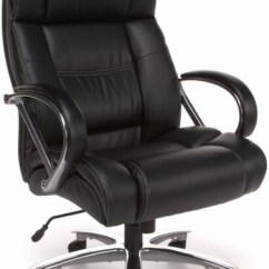 Office Chair Leather Ergonomic Mesh With Headrest Ofm 810 Lx Avenger 500 Lb In Black Or Brown Big And Tall High Back Executive 1