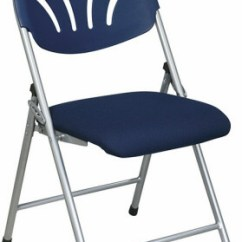 Folding Fabric Chairs Graco High Chair Pad Replacement Plastic Fan Back With Blue Seat Fc8100ns 1
