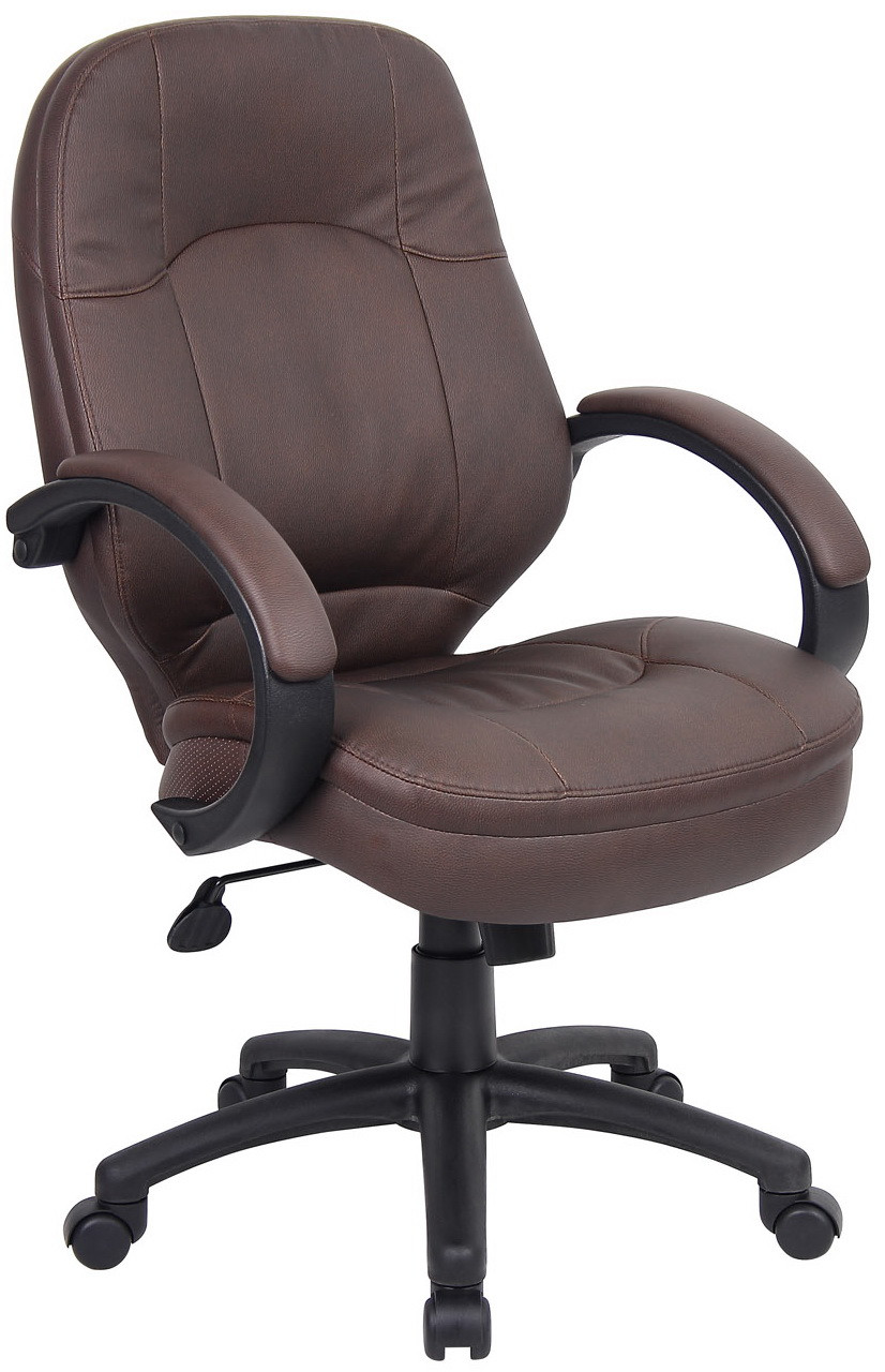 Plush Chairs Boss Plush Leatherplus Conference Chair B726
