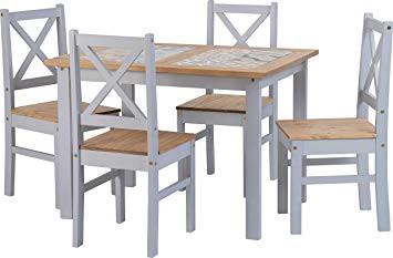 salvador 1 4 tile top dining set grey