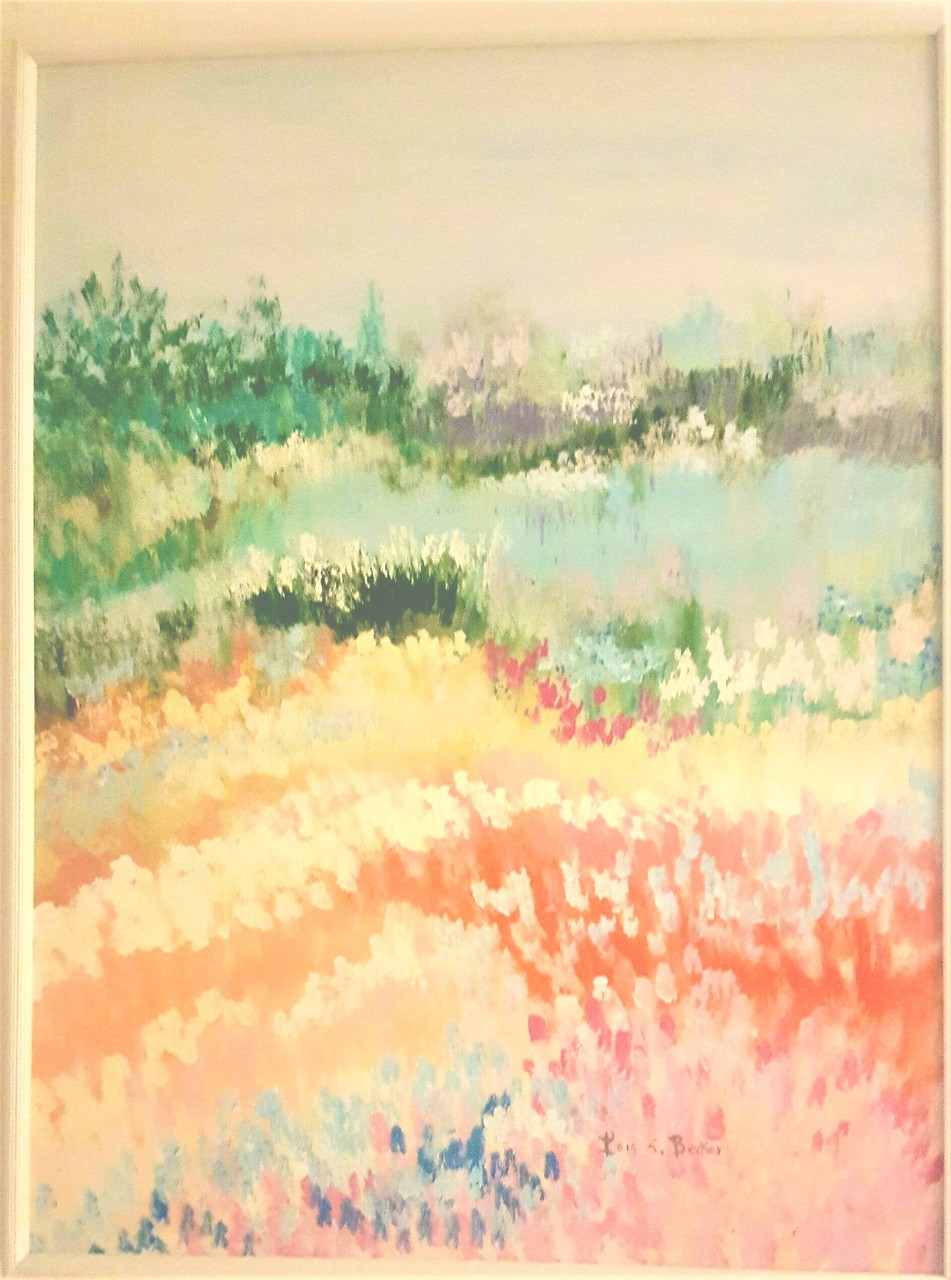 large abstract pastel landscape