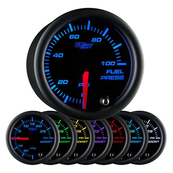 glowshift oil pressure gauge wiring diagram gmc harness black 7 color 100 psi fuel