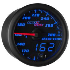 nitrous water temp gauge wiring diagram empi universal turn signal switch glowshift temperature gauges black blue maxtow