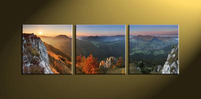 piece colorful mountain canvas art prints