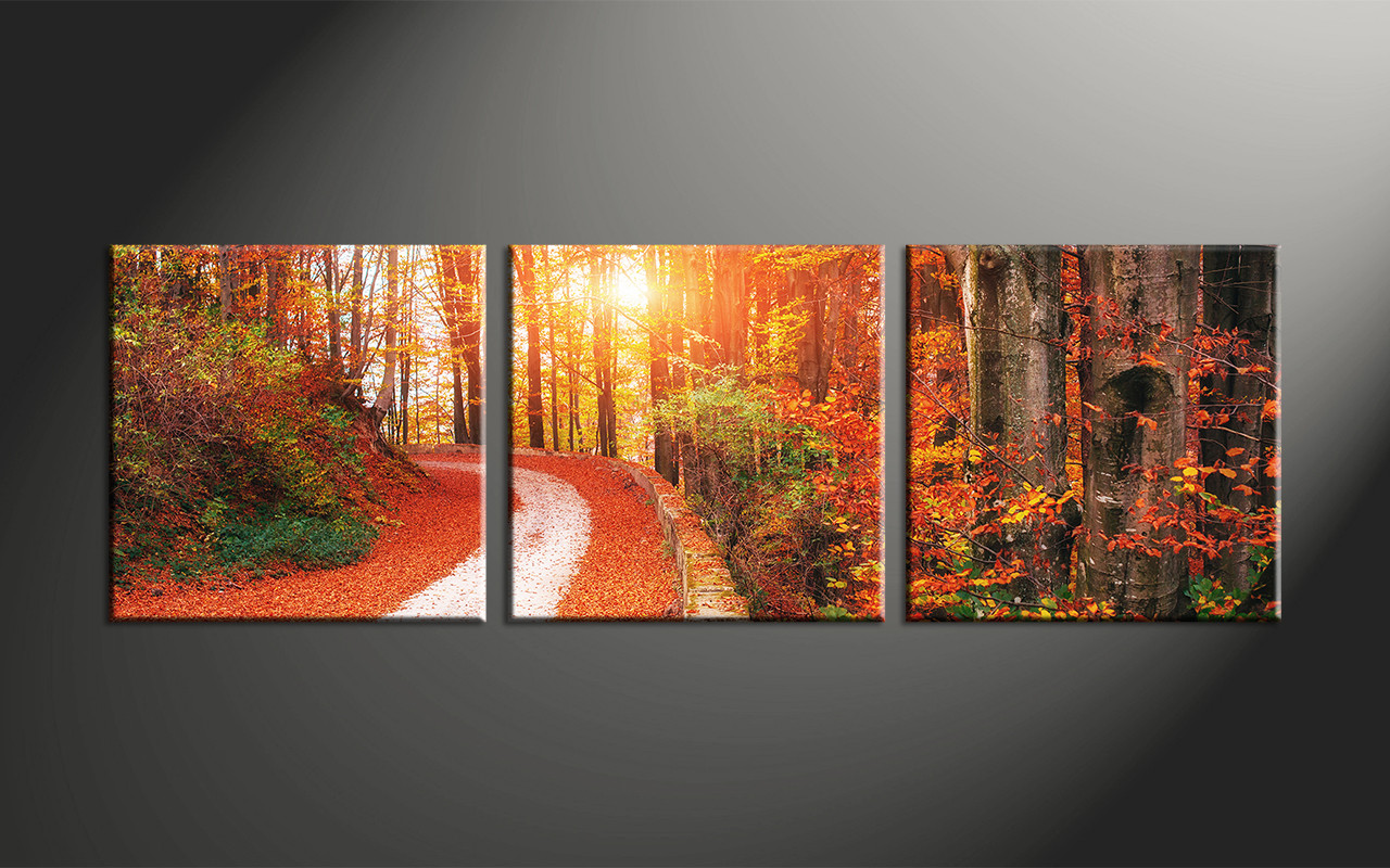 3 piece colorful scenery