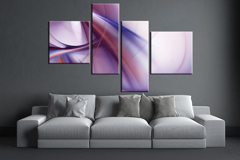 4 piece purple white