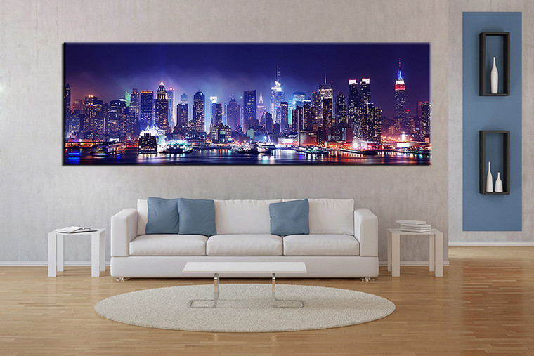 canvas prints for living room best design images 1 piece blue panoramic city art wall artwork pictures