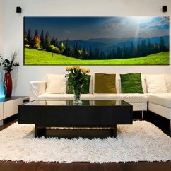 Canvas Prints For Living Room Small Designs With Fireplace 1 Piece Panoramic Blue Sky Scenery Sunrise Wall Art Huge Pictures