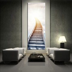 Modern Artwork For Living Room Big Lots Furniture Sets 1 Piece White Large Pictures Stair Wall Art Multi Panel
