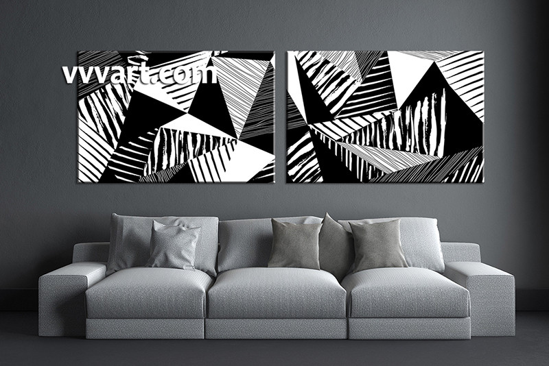 2 piece canvas abstract