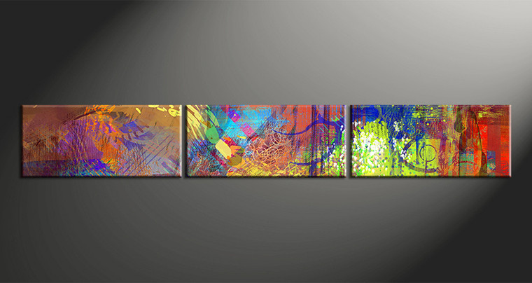 3 Piece Colorful Wall Art Oil Paintings Abstract Pictures