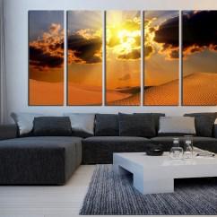 Artwork For Living Room Walls Wall Decorating Ideas 5 Piece Decor Landscape Canvas Print Desert Huge Art Photography Large Pictures