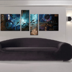Contemporary Artwork Living Room Nice Designs 4 Piece Wall Decor Abstract Art Colorful Oil Painting Photo Canvas Print Huge