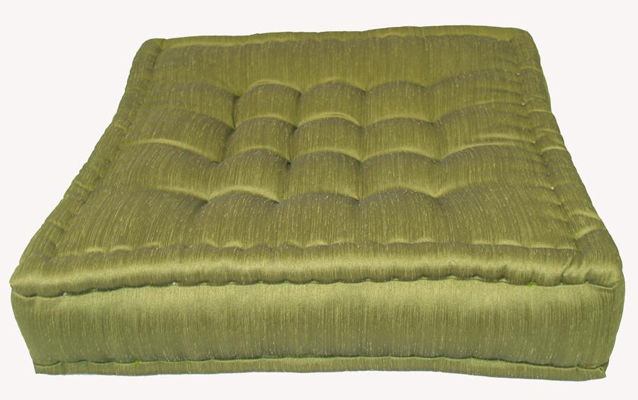 tufted floor cushions olive green floor pillow