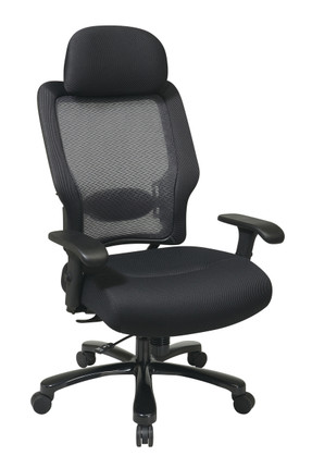 big and tall desk chairs folding quad chair executive professional airgrid