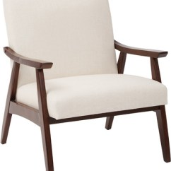 Office Side Chair Patio With Ottoman Canada Davis Armchair Modern Wooden Ave Six In Linen