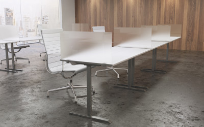OBEX Desk  Cubicle Mount Acrylic Privacy Panels