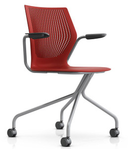 office chair red hardwood floor leg protectors buy chairs online discount knoll multigeneration hybrid in dark rd w optional arms and casters