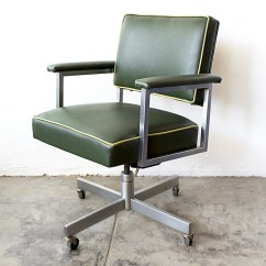Steelcase Vintage Chair Personalized Lawn Chairs Sold 1970s Office Refinished Green Rehab
