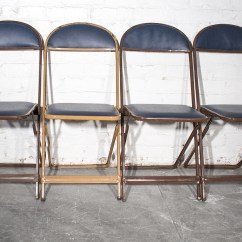Blue Metal Folding Chairs What Makes A Good Gaming Chair Sold 1960s Set Of Four Refinished Rehab Vintage Image 1