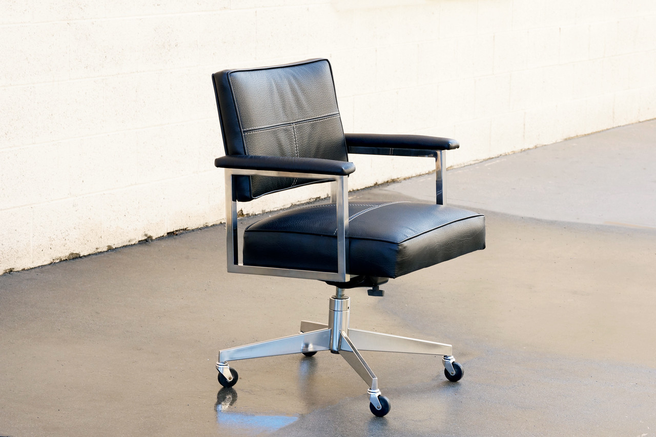 steelcase vintage chair hanging hong kong sold office refinished in black rehab image 1