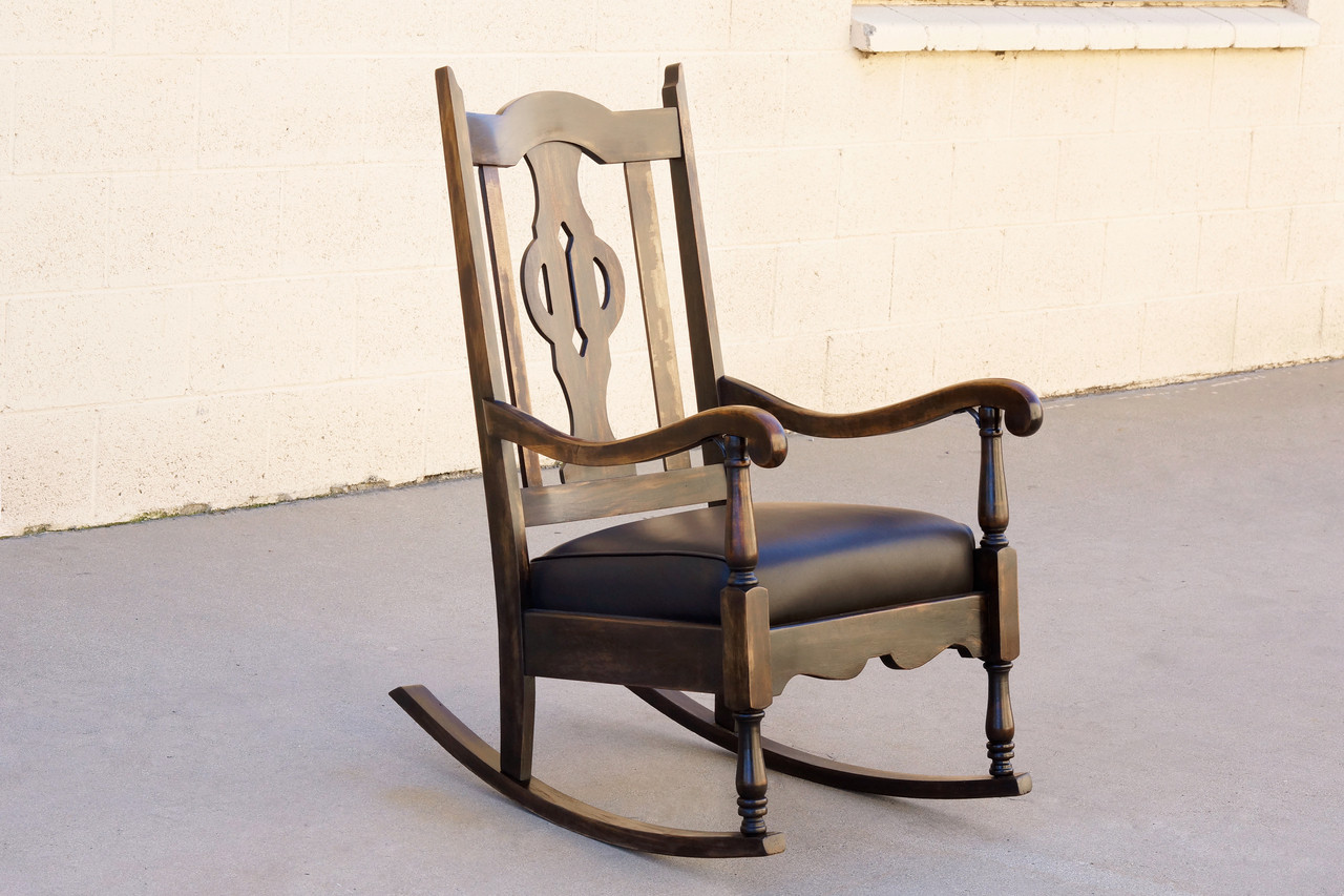 Leather Rocking Chair Sold Antique Mission Style Rocking Chair Refinished Maple And Leather