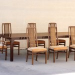 Sold 1960s Double Leaf Dining Table With Eight Chairs By Drexel Rehab Vintage Interiors