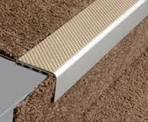 Aluminium Square Anti Slip Carpet Stair Edge Nosing 2 5M   Non Slip Carpet Stair Nosing